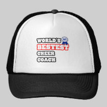 World's Bestest Cheer Coach Hats