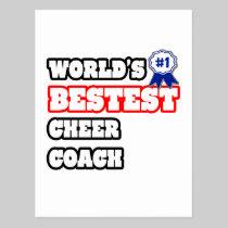 World's Bestest Cheer Coach Postcard