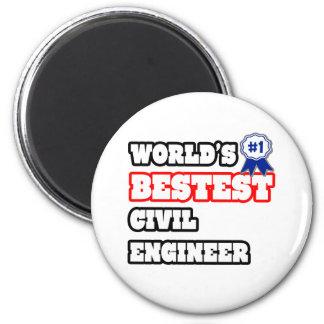 World's Bestest Civil Engineer Magnet