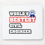 World's Bestest Civil Engineer Mouse Pad