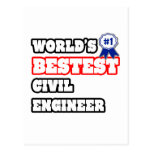 World's Bestest Civil Engineer Postcard
