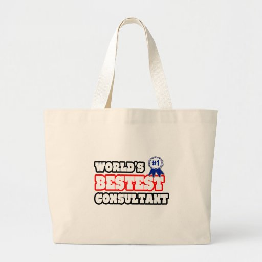 World's Bestest Consultant Canvas Bag