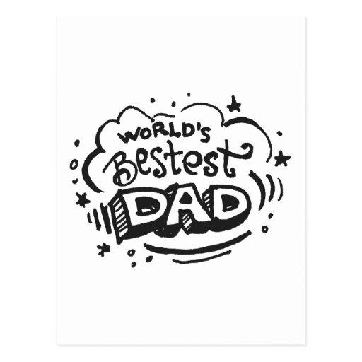 Worlds Bestest Dad 1 Postcard