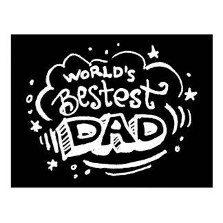 World's Bestest Dad 2 Postcard