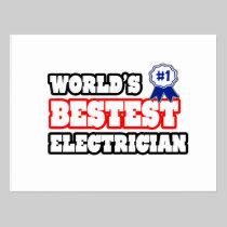 World's Bestest Electrician Postcard