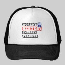World's Bestest English Teacher Mesh Hat