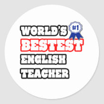 World's Bestest English Teacher Stickers