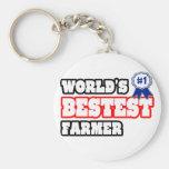 World's Bestest Farmer Key Chains