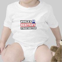 World's Bestest Firefighter Baby Creeper