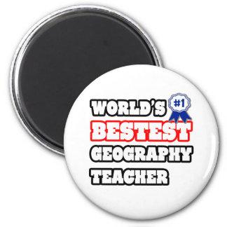World's Bestest Geography Teacher Magnets