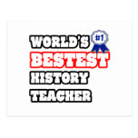 World's Bestest History Teacher Postcards