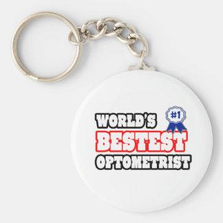 World's Bestest Optometrist Basic Round Button Keychain