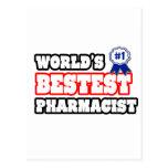 World's Bestest Pharmacist Postcard