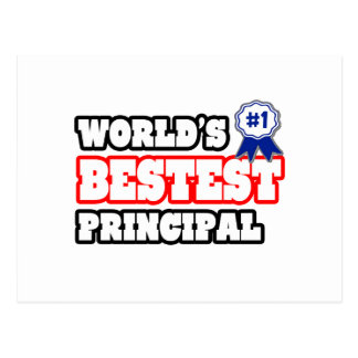World's Bestest Principal Postcard