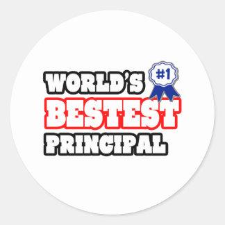 World's Bestest Principal Classic Round Sticker