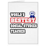 World's Bestest Social Studies Teacher Card