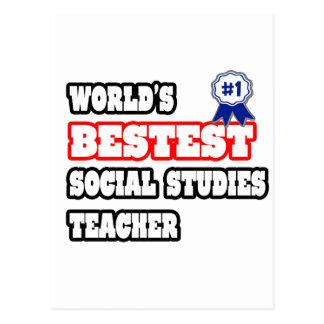 World's Bestest Social Studies Teacher Postcard