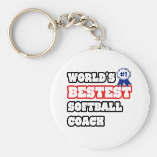 World's Bestest Softball Coach Key Chain