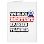 World's Bestest Spanish Teacher Card