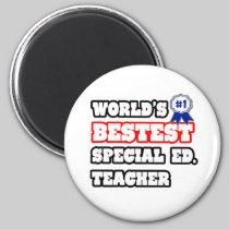 World's Bestest Special Ed. Teacher 2 Inch Round Magnet