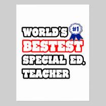 World's Bestest Special Ed. Teacher Postcards