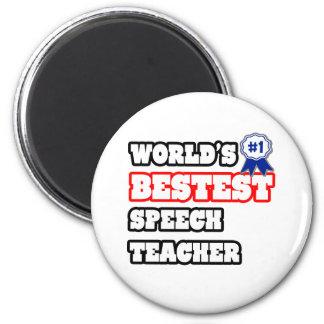 World's Bestest Speech Teacher 2 Inch Round Magnet