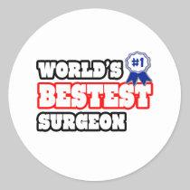 World's Bestest Surgeon Stickers