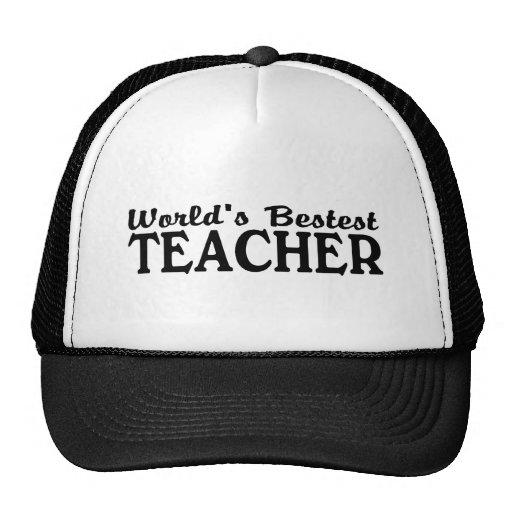 Worlds Bestest Teacher Mesh Hat