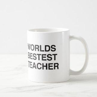 Worlds Bestest Teacher Mugs