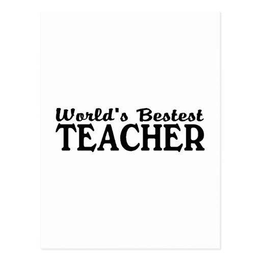Worlds Bestest Teacher Postcard