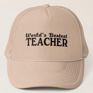 Worlds Bestest Teacher Trucker Hat