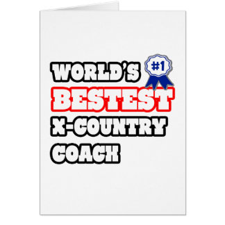 World's Bestest X-Country Coach Greeting Card