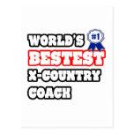 World's Bestest X-Country Coach Postcard