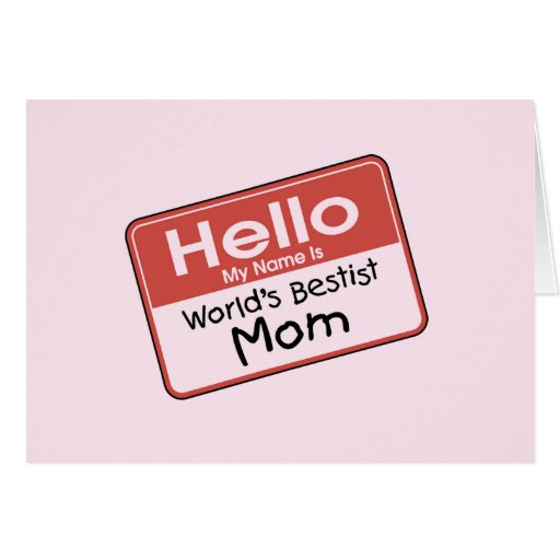 World's Bestist Mom tshirts and Gifts Greeting Card