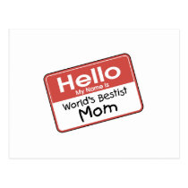 World's Bestist Mom tshirts and Gifts Postcard