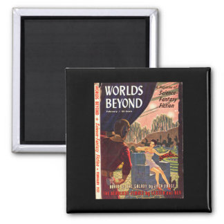 Worlds Beyond v01 n03 (1951-02.Hillman)_Pulp Art 2 Inch Square Magnet