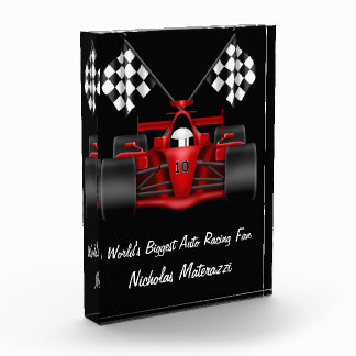 World's Biggest Auto Racing Fan Acrylic Award