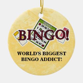 World's Biggest Bingo Addict ornament