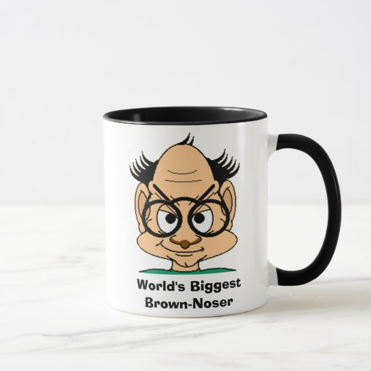 World's Biggest Brown-Noser Mug