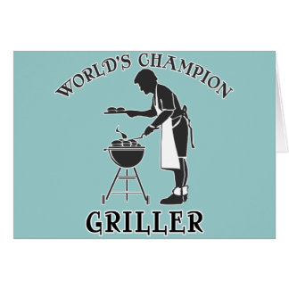 World's Champion Griller Father's Day Tee Greeting Card