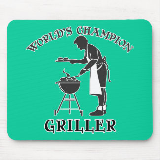 World's Champion Griller Father's Day Tee Mouse Pad