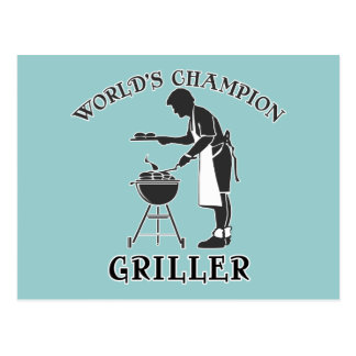 World's Champion Griller Father's Day Tee Postcard