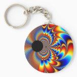 Worlds Collide - Fractal Keychain