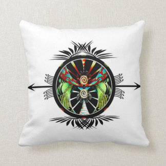 Worlds Collide Turtles Throw Pillow