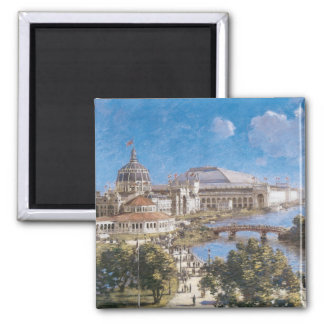 World's Colombian Exposition by Theodore Robinson 2 Inch Square Magnet