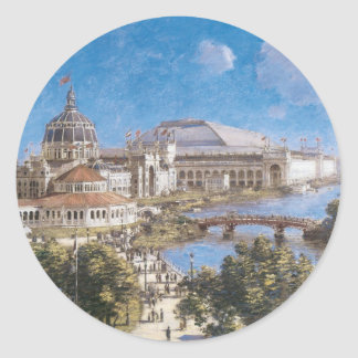World's Colombian Exposition by Theodore Robinson Classic Round Sticker