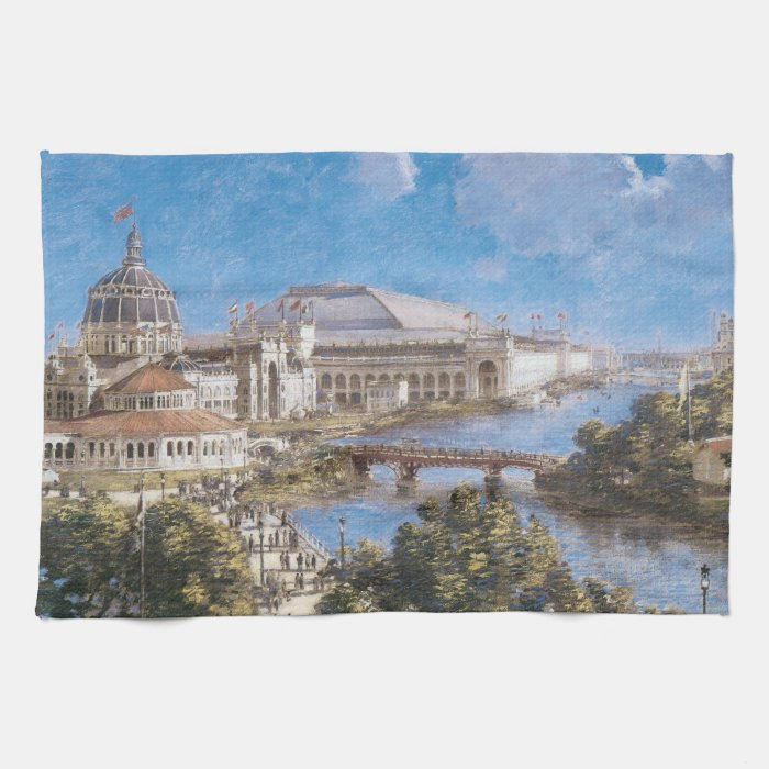 World's Colombian Exposition by Theodore Robinson Kitchen Towel