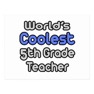 World's Coolest 5th Grade Teacher Postcard