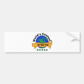 World's Coolest 60 Year Old Bumper Sticker