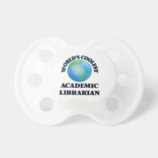 wORLD'S COOLEST aCADEMIC lIBRARIAN Baby Pacifier
